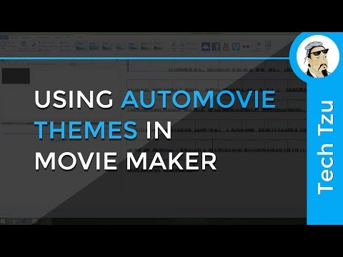 Using AutoMovie Themes in Movie Maker
