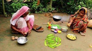Bangali Kancha KOLAR KOFTA Recipe | Raw Banana Kofta Curry prepared by Grandmother- Village Food