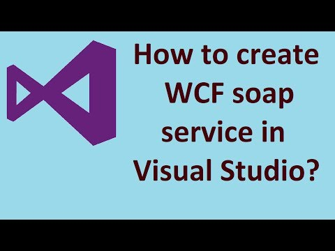 How to create WCF(Web-service) backend in Visual Studio?