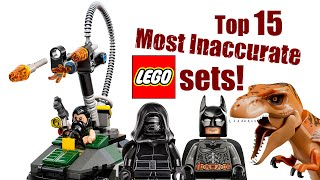 Top 15 Most Inaccurate LEGO Sets!