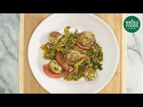 Gluten-Free Veggie Noodles with Turkey Mini-Meatballs l Whole Foods Market