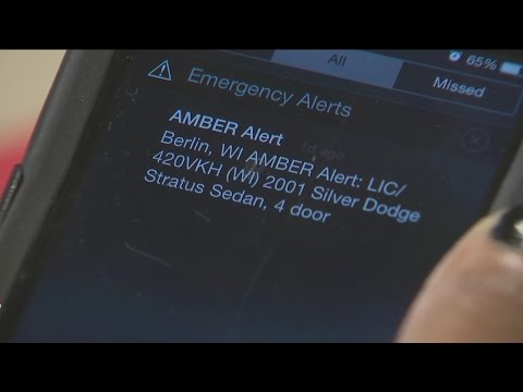 AMBER Alerts on your cell phone