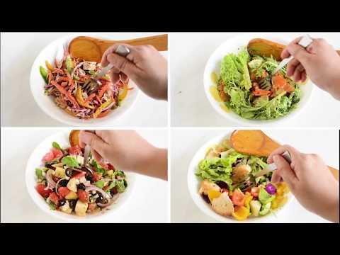 Healthy & Quick Salad - 4 Ways | Easy Everyday Salads | Foopla