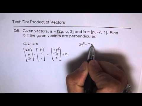 Find Constant for Perpendicular Vectors