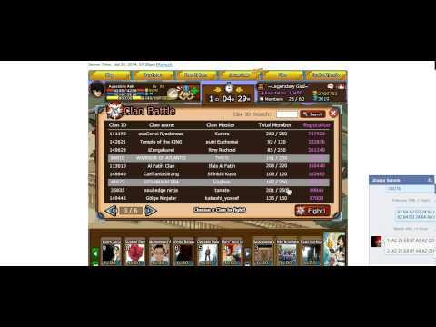 ninja saga 1 hit kill in clan war