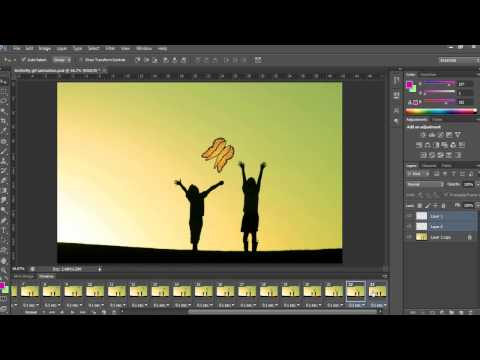 How to Make an animated butterfly Movement Gif in Photoshop