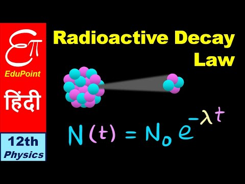 🔴 Law of RADIOACTIVE DECAY || for Class 12 in Hindi