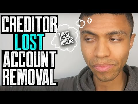 CREDITOR LOST ACCOUNT REMOVAL || NO PROOF NO JUDGEMENT || SECTION 623 || BETTER CREDIT SCORE