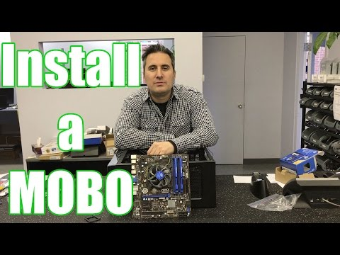 How to install a motherboard  (Piece of cake)