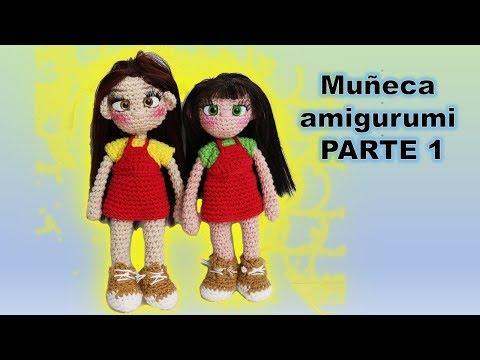 Muñeca amigurumi  paso a paso, tutorial (parte 1) DIY