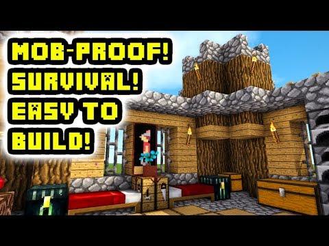 Minecraft Tutorial: Easy Mob-Proof Survival Castle Build