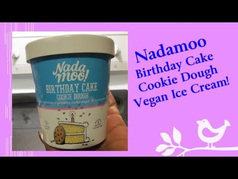 Nadamoo Birthday Cake Ice Cream! (coconut milk ice cream, vegan, dairy-free)