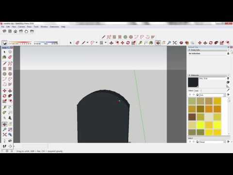 Sketch Up Using Push / Pool tool to cut pieces out of your model. (Tutorial/ quick tip)