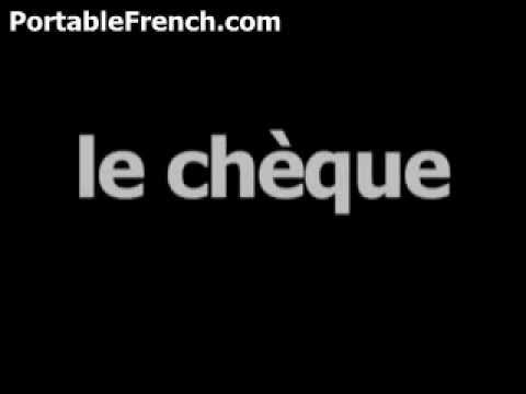 French word for check is lechèque