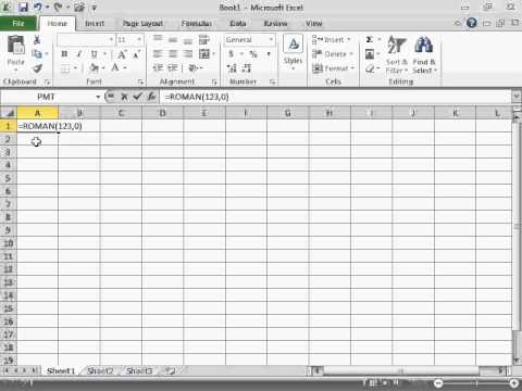 Convert Arabic to Roman Numerals - Excel 2010