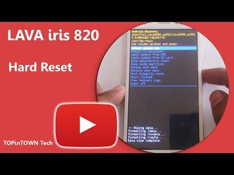 LAVA iris 820 Hard Reset by TOPinTOWN - PakVim net HD Vdieos