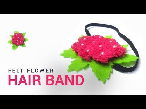 DIY Felt Flower Hair Band Tutorial