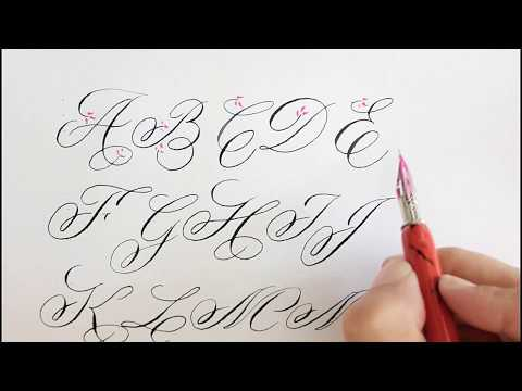 how to write in calligraphy for beginners | easy way