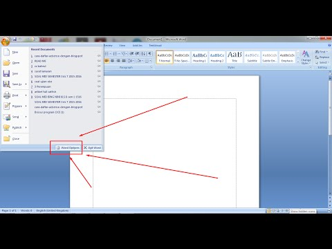 How to Show up Margin Line in Microsoft Office Word 2007