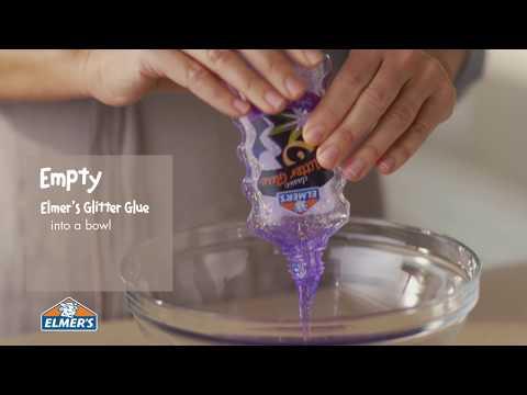 Elmer's Glue DIY, KID-FRIENDLY Purple Glitter Slime!