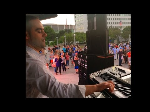 Albert Abedini Live Music 2016 @ Hart Plaza Detroit - Elvis Tershana (Keyboard)