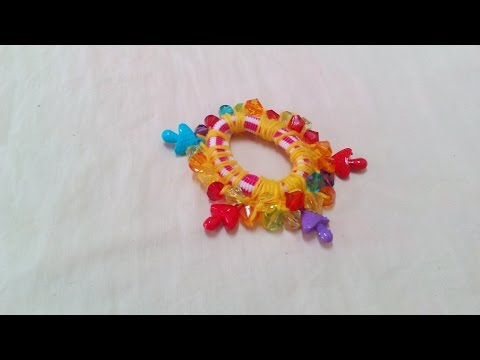 How to Make Crochet Beads Hair Elastic   How to Make Crochet Beads Hair Elastic + Tutorial .
