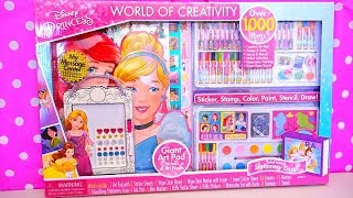 Download Coloring Toys ! GIANT Disney Princesses Activity Kit With Colors, Stickers, Paints, and More Video