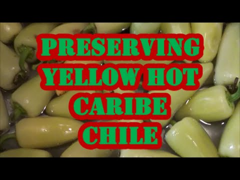 Preserving Yellow Hot Caribe Chile
