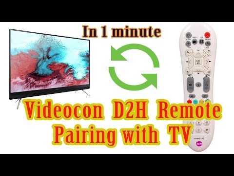 How to pair Videocon D2H Universal Remote to TV