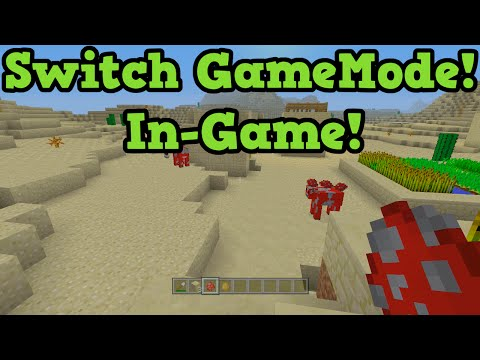 Minecraft Xbox 360 + PS3: Switch Game Mode IN GAME in TU19