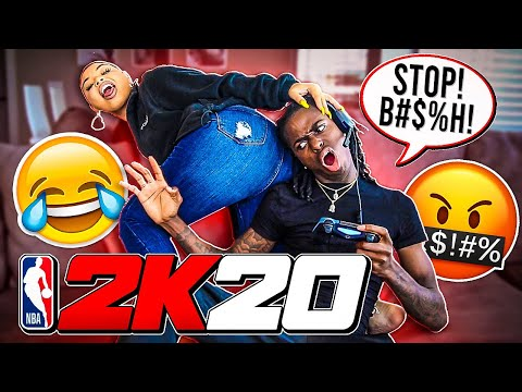 ANNOYING MY BOYFRIEND WHILE ON 2K!!! (HILARIOUS)