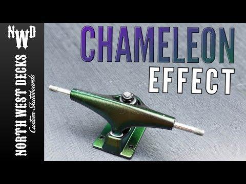 How To - Chameleon Paint Effect on Skateboard Trucks!