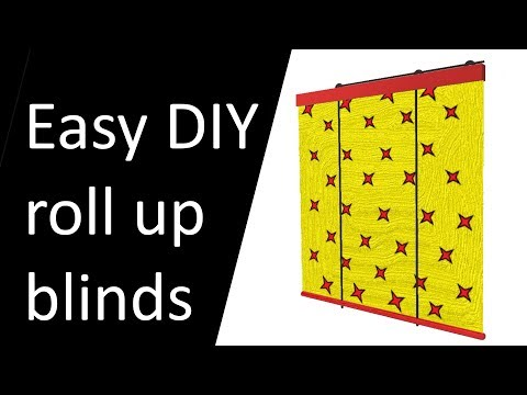Easy to make DIY roll up blinds.