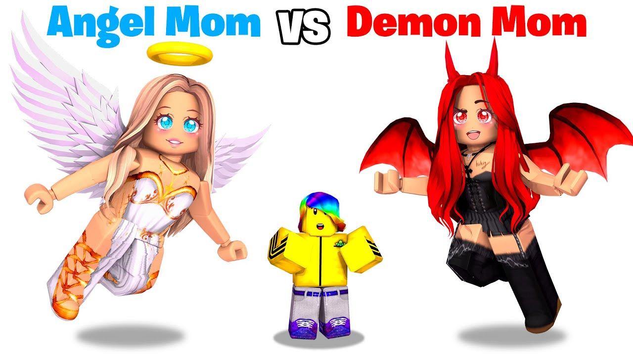 Roblox ANGEL Mom vs DEMON Mom.. 😇😈