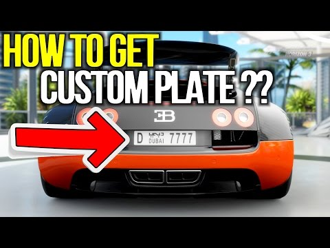 Forza Horizon 3 - How to get CUSTOM LICENSE PLATE ??