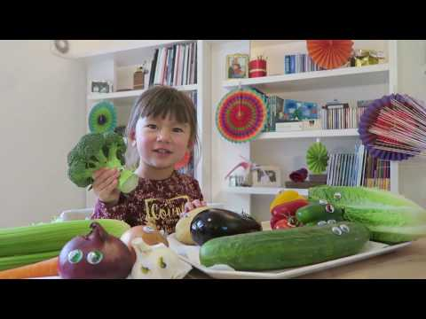 Learn Vegetables in English and Chinese for Kids