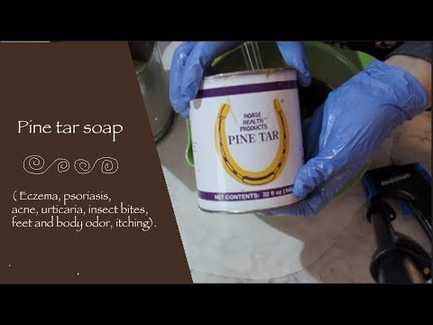 Making a Pine tar soap easy-easy !