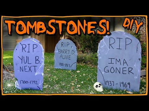 How To Make Tombstones | I Am Kristin📍