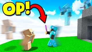 KNOCKBACK STICK CHALLENGE! (Minecraft BED WARS)