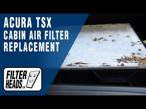 How to Replace Cabin Air Filter 2009 Acura TSX