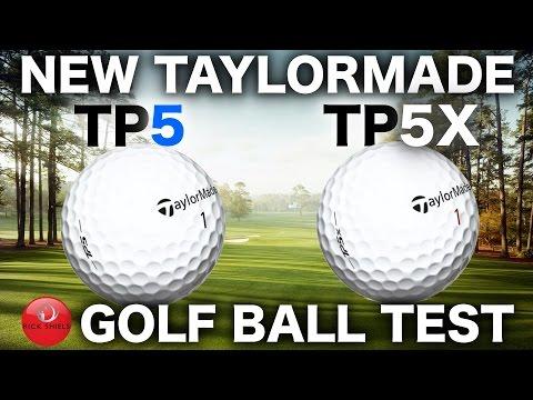 NEW TAYLORMADE TP5 & TP5X GOLF BALL TEST