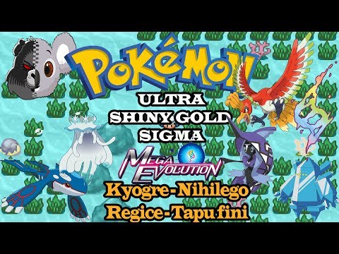 Pokemon Ultra Shiny Gold Sigma - 4 Legendary in 1 location