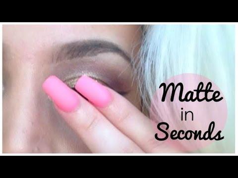 DIY Matte Nails in Seconds