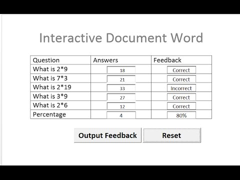 How to Create an Interactive Document in Microsoft Word