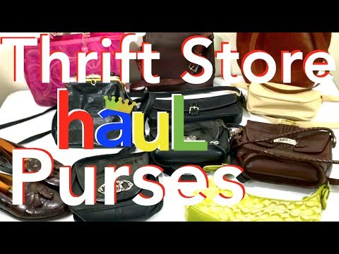Thrift Store Haul 2018. PURSES. What to Sell on eBay from Garage Sales to Make Money Selling on eBay