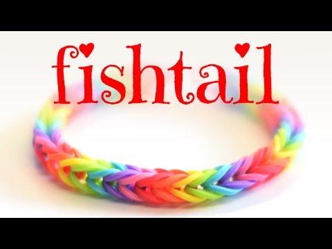 How to Make a Fishtail Bracelet: Rainbow Loom Bracelet Tutorial - Easy for beginners