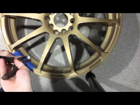 How to install valve stems on rims