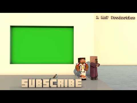 Youtube OUTRO - MINECRAFT with game sounds and music