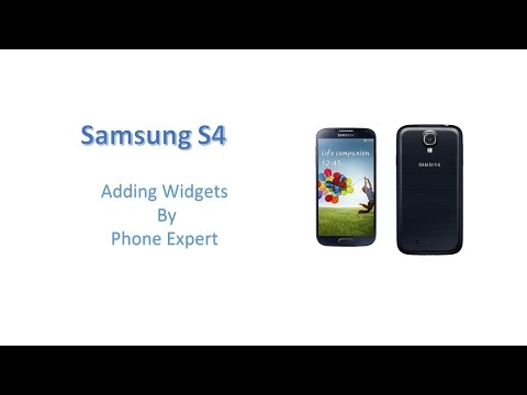 Adding Widgets - Samsung Galaxy S4