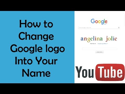 How to change google logo into my name
